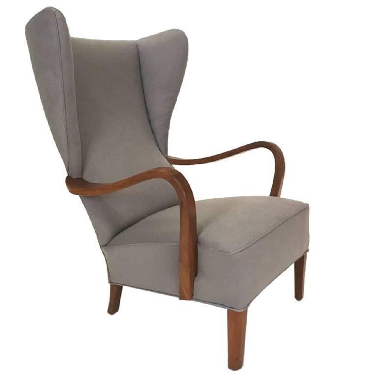 Wingback Lounge Chair Danish Modern Arenskjold